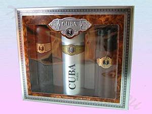 CUBA GOLD perfume 3 Pieces Set 3.4 EDT/ 3.4 deodorant /3.4 After Shave For Men - Aura Fragrances