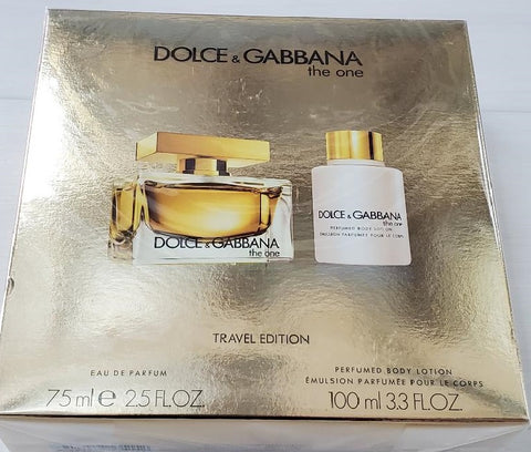 Dolce & Gabbana the one 2.5 OZ EDP & Perfumed Body Lotion 3.3 OZ for women