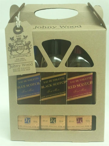JOHNY WOOD For Men by Real Fragrance Red Scotch EDT 3.3 OZ. /  Black Scotch EDT 3.0 OZ. / Blue Scotch EDT 3.0 OZ. - Aura Fragrances
