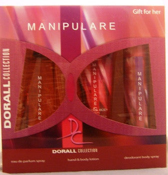 MANIPULARE by DORALL COLLECTION 3.3 oz/3.3 oz Hand & Body Lotion & 2.5 Deodorant Body Spray. - Aura Fragrances