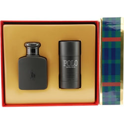 POLO DOUBLE BLACK By Ralph Lauren EDT 4.2oz/Deo 2.6oz For Men - Aura Fragrances