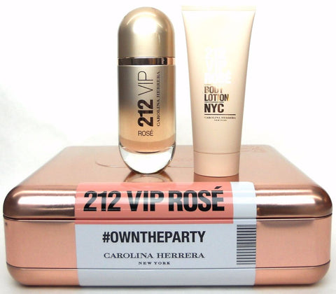 212 VIP Rose by Carolina Herrera 2.7oz EDP/3.4oz Body Lotion