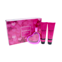 Bebe Love 3.4oz EDP/3.4oz BL/3.4oz SG for Women