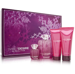 REALITIES SWEET DESIRE By Liz Claiborne EDP 3.4oz/3.4oz/.24oz/.5oz. For Women - Aura Fragrances