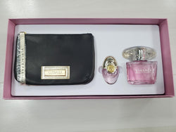 VERSACE BRIGHT CRYSTAL 3 OZ & 0.3 OZ &  Black Pouch Versace