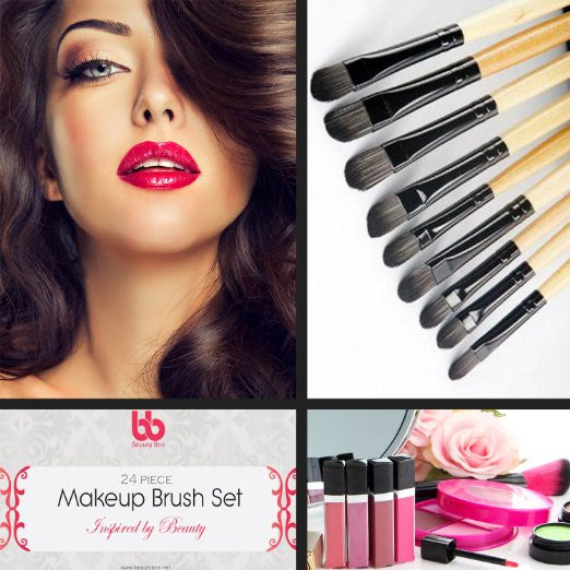Professional Makeup Brushes 24 Piece Set for $0.25 at THOKO PLACE
