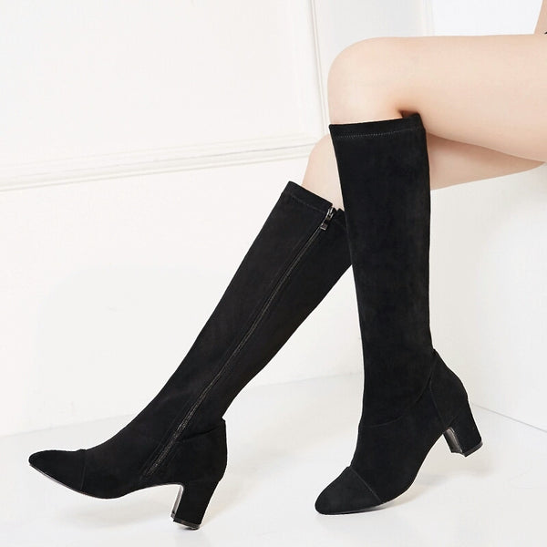 Round Toe Knee-High Fashion Boots for $0.59 at THOKO PLACE