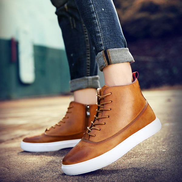 PU Leather Outdoor Leisure Shoes for $0.54 at THOKO PLACE