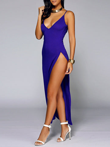 Backless High Slit Club Dress for $0.24 at THOKO PLACE