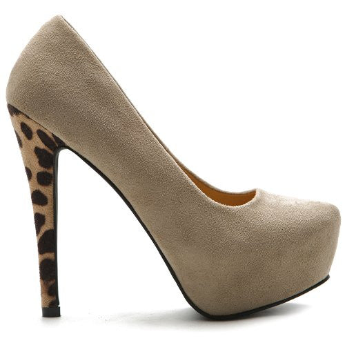 Ollio Women's Leopard High Heels for $0.59 at THOKO PLACE