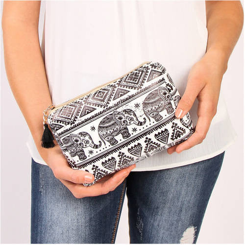 Elephant Print Cosmetic Bag for $0.14 at THOKO PLACE