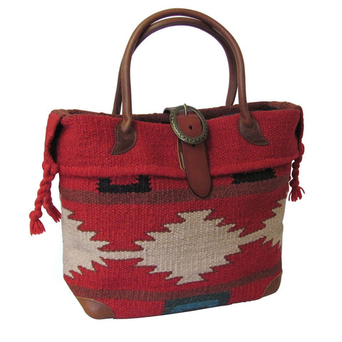 Amerileather Red  Wool-blend Roamer Tote Bag for $1.95 at THOKO PLACE