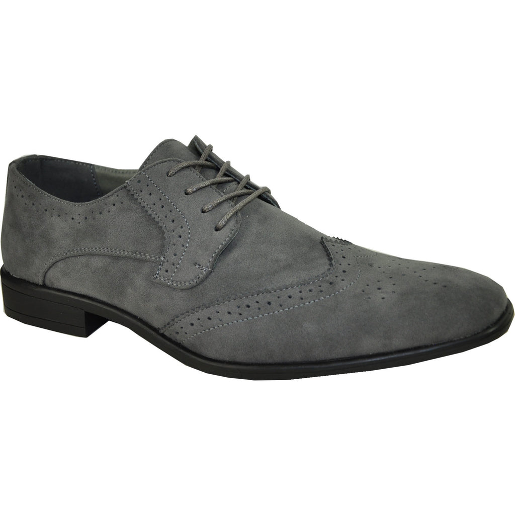 KING-3 Wingtip Oxford Shoe Grey for $0.74 at THOKO PLACE