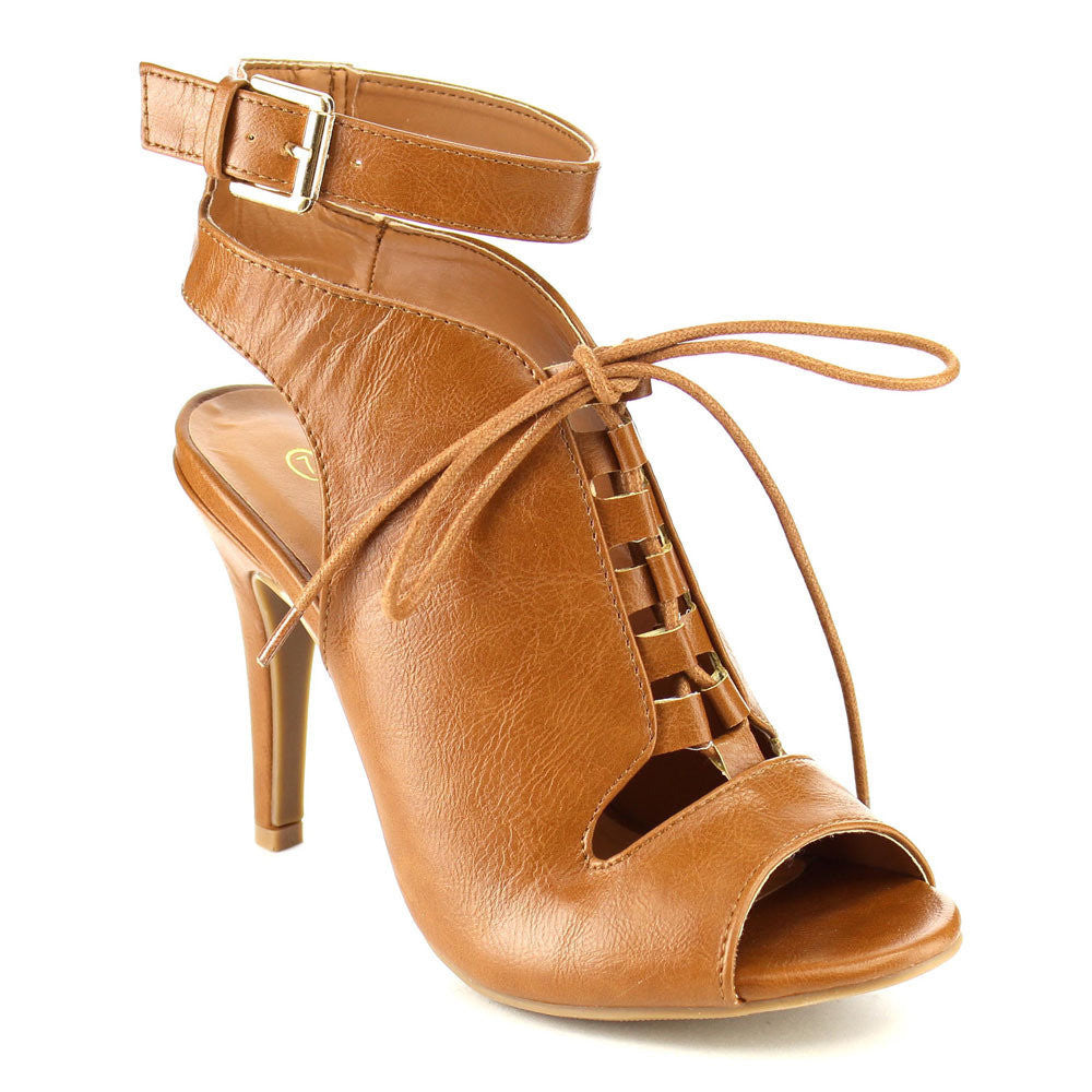 Beston Lace Up Buckle Stiletto for $0.59 at THOKO PLACE