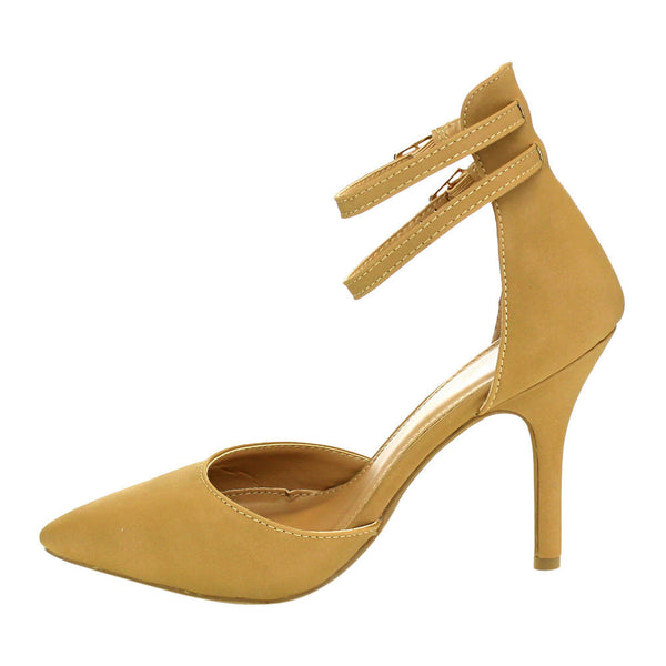 Beston Women's Double Ankle Strap D'Orsay Heels for $0.49 at THOKO PLACE