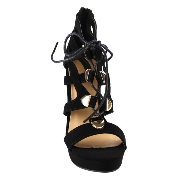 Beston Women's Lace Up Heels for $0.55 at THOKO PLACE
