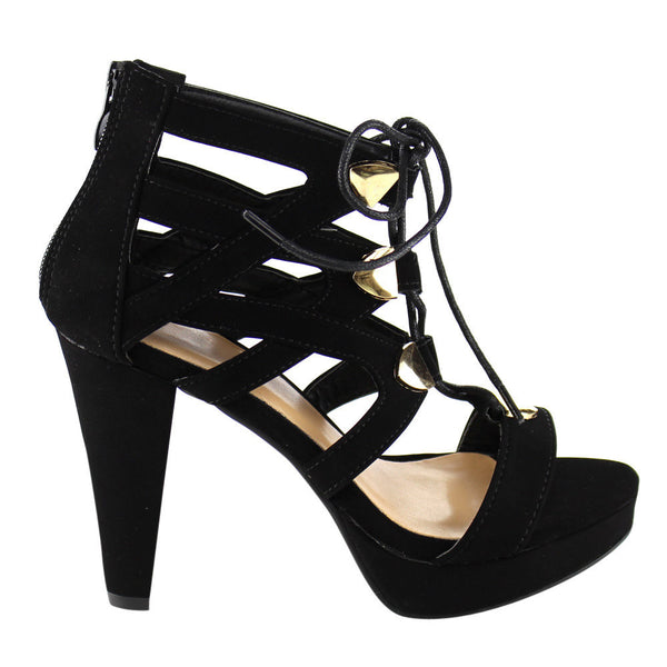 Beston Women's Lace Up Heels for $0.54 at THOKO PLACE
