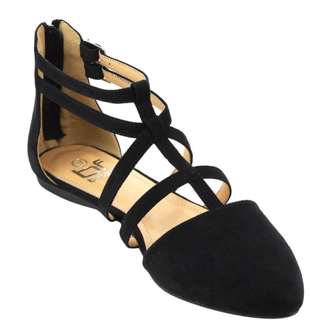 Betani  Double Ankle Strap T-strap Ballerina Flats for $0.39 at THOKO PLACE