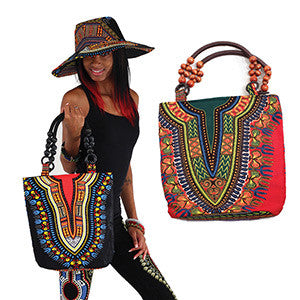 Beaded Tote Bag: Red (C-A630) for $0.44 at THOKO PLACE