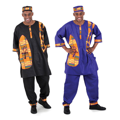 Brocade Pant Set: Kente & Ankh for $0.59 at THOKO PLACE