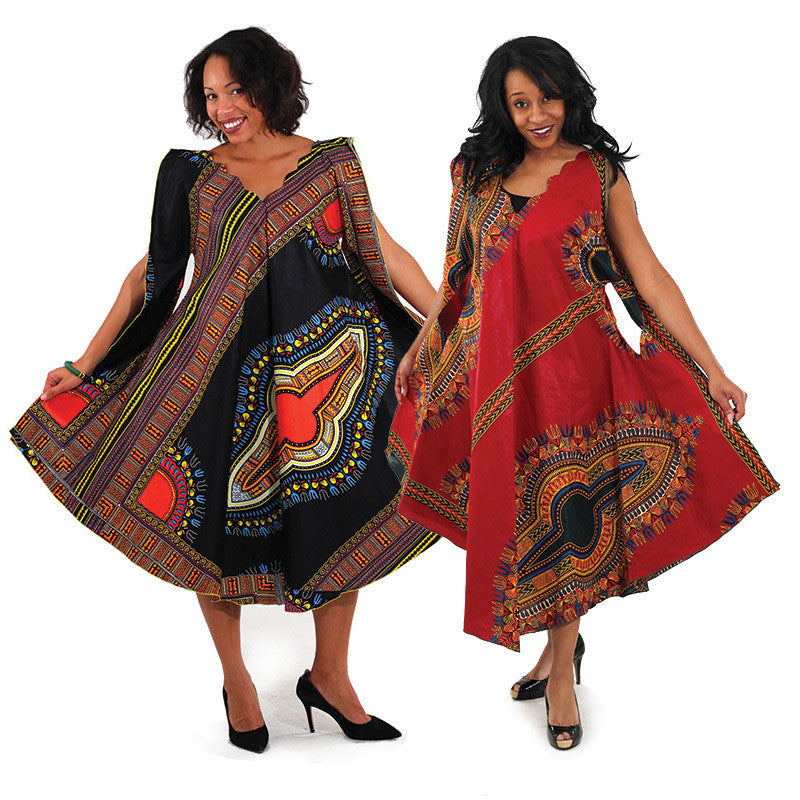 Traditional Print Umbrella Dress: (C-WF912) for $0.59 at THOKO PLACE