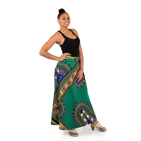 Traditional Print Wrap Skirt for $0.35 at THOKO PLACE