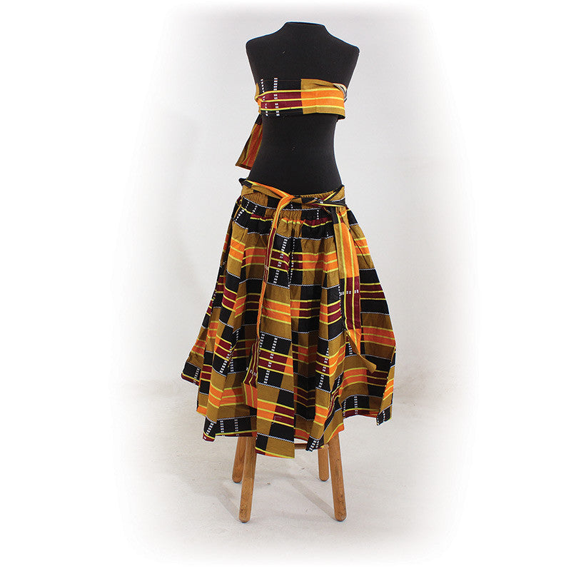 Shop this gorgeous Kente Skirt at Thoko Place online store