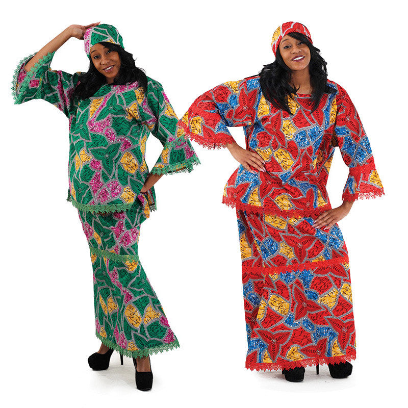 African Print Set Style - Red Free (C-WF929) for $0.59 at THOKO PLACE