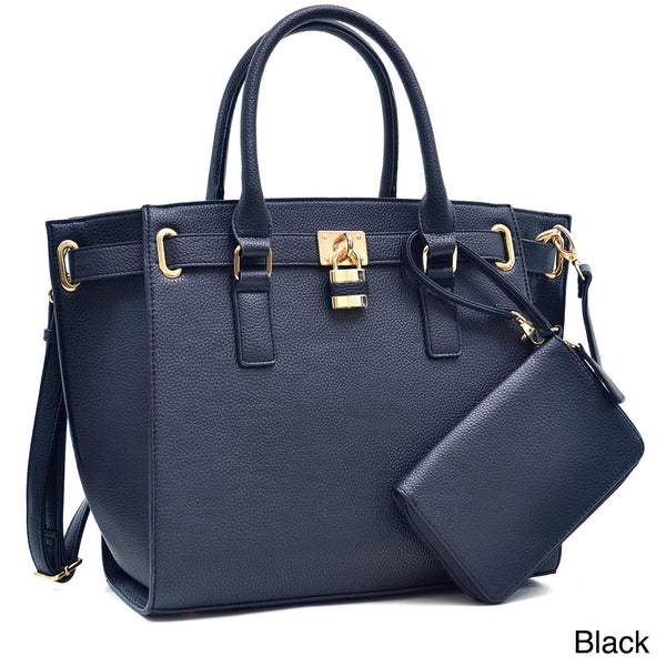 Dasein Buffalo Faux Leather Belted Medium Tote Bag for $0.77 at THOKO PLACE