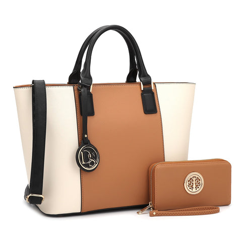 Dasein Classic Medium Tote Bag with Matching Wallet for $0.86 at THOKO PLACE