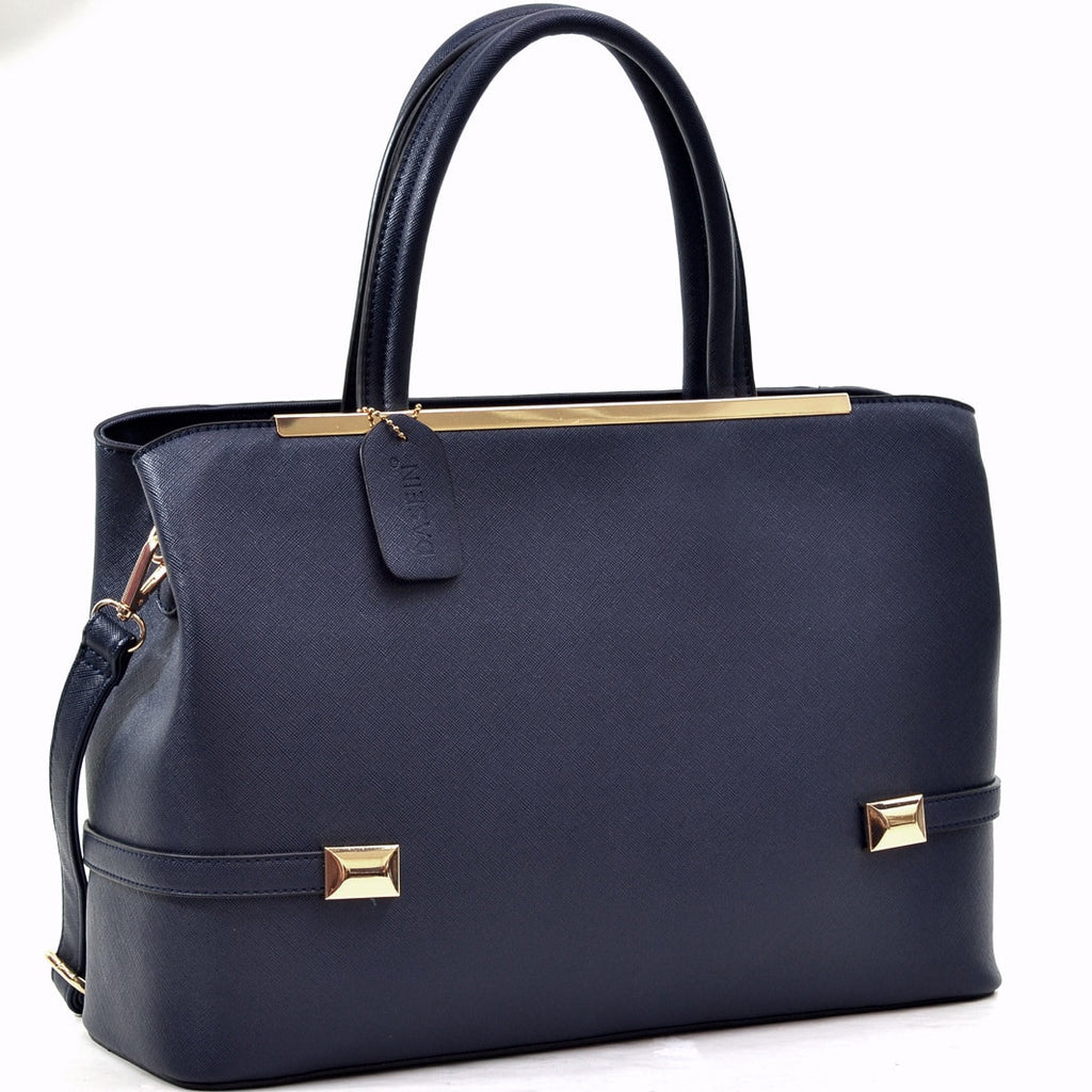 Dasein Goldtone Framed Fashion Tote Bag for $0.69 at THOKO PLACE