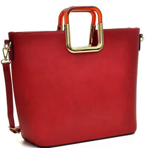 Dasein Square-handle Tote with Removable Shoulder Strap for $0.79 at THOKO PLACE