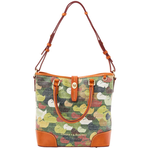 Dooney & Bourke Camouflage Duck Medium Cayden for $0.99 at THOKO PLACE