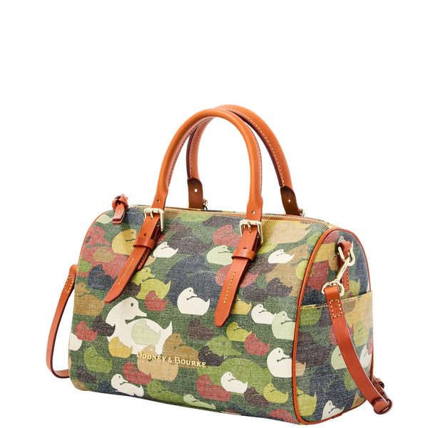Dooney & Bourke Camouflage Duck Olivia Green for $1.19 at THOKO PLACE