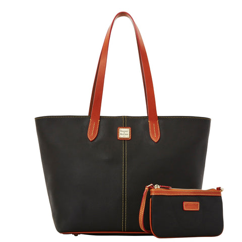 Dooney & Bourke Eva Large Zip Shopper and Wristlet for $1.61 at THOKO PLACE