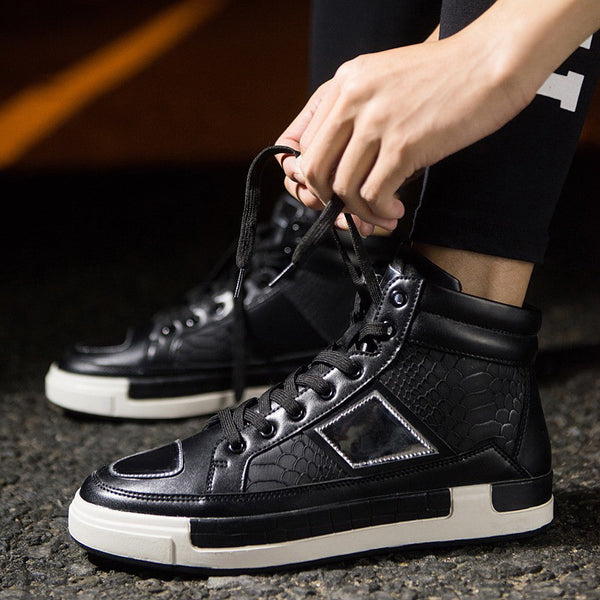 Fashion High Top Vintage Leather Shoes for $0.49 at THOKO PLACE