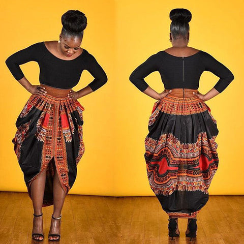 Dashiki Printed 3/4 Sleeve Dress for $0.40 at THOKO PLACE