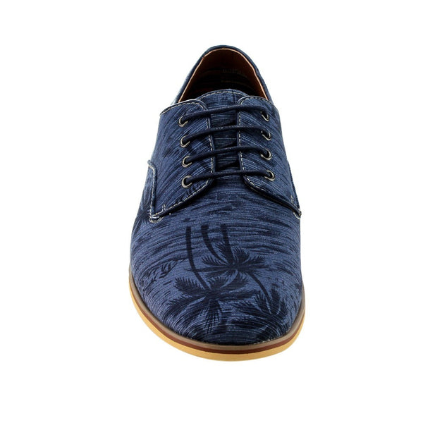 Ferro Aldo Men's Fabric Lace-up Stitched Slip-on Party Oxfords for $0.54 at THOKO PLACE