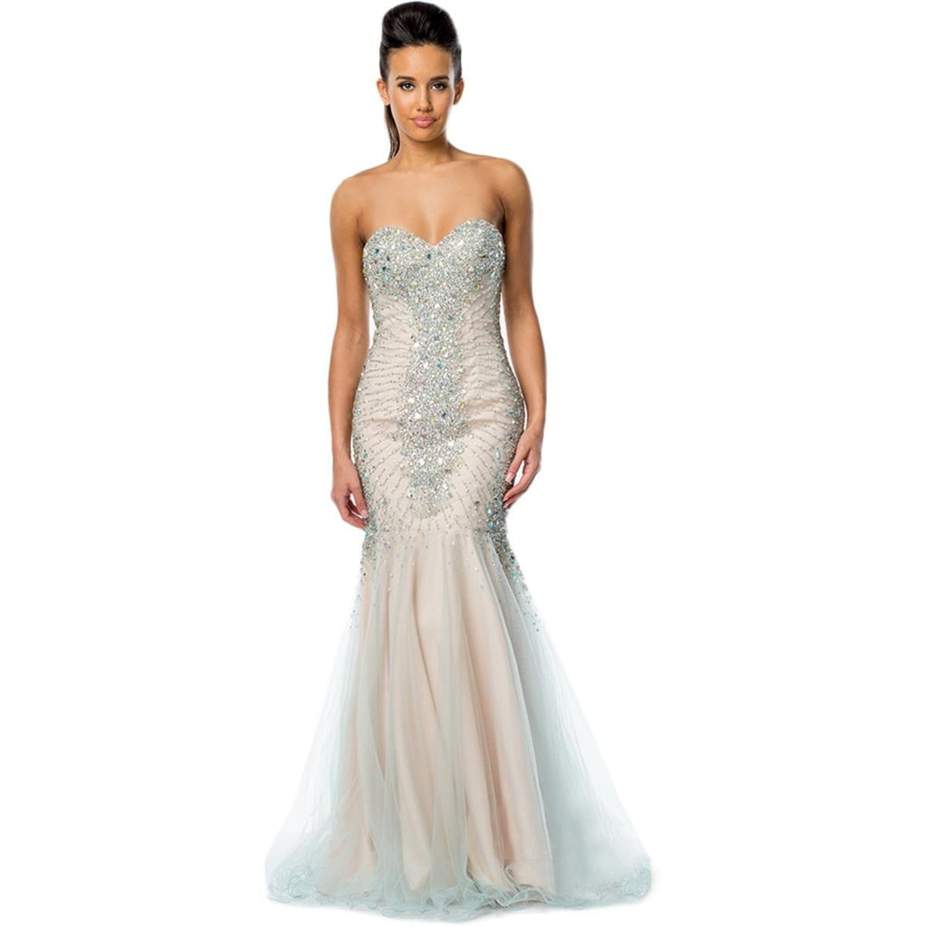 Terani Couture Womens Strapless Prom Evening Dress for $1.99 at THOKO PLACE