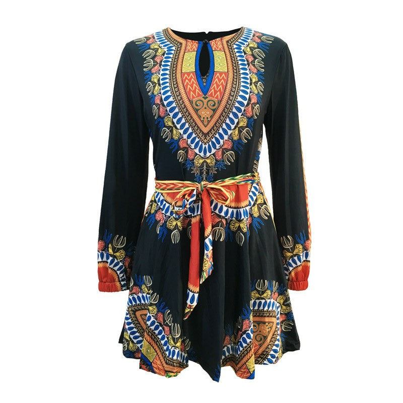 African Print Skater Dress for $0.35 at THOKO PLACE