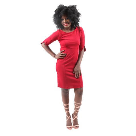 Hadari Women's Casual Sexy Evening Party Red Dress for $0.69 at THOKO PLACE