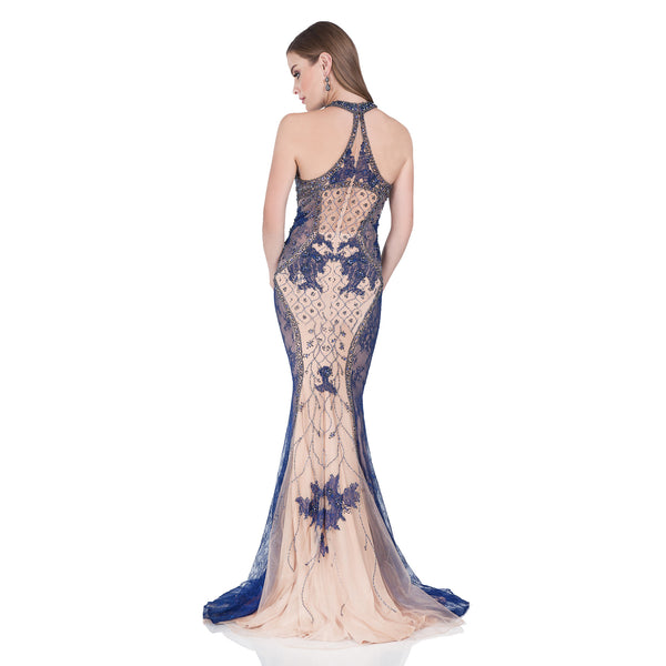 Terani Couture Women's Intricately Beaded Halter Evening Gown for $10.50 at THOKO PLACE