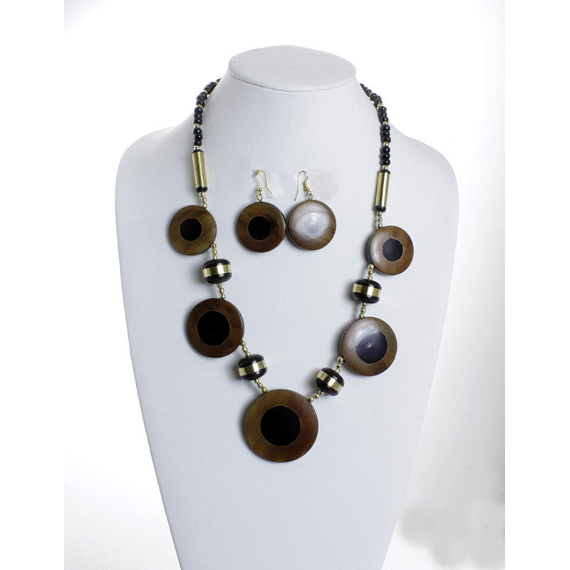 Black & Gold Protection Necklace Set for $0.09 at THOKO PLACE