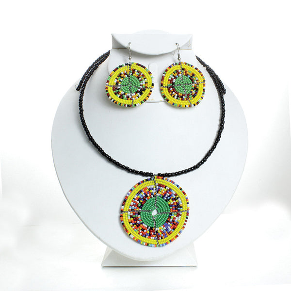 Maasai Choker & Earring Set for $0.16 at THOKO PLACE