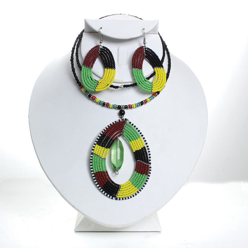 Pan African Choker & Earring Set for $0.13 at THOKO PLACE