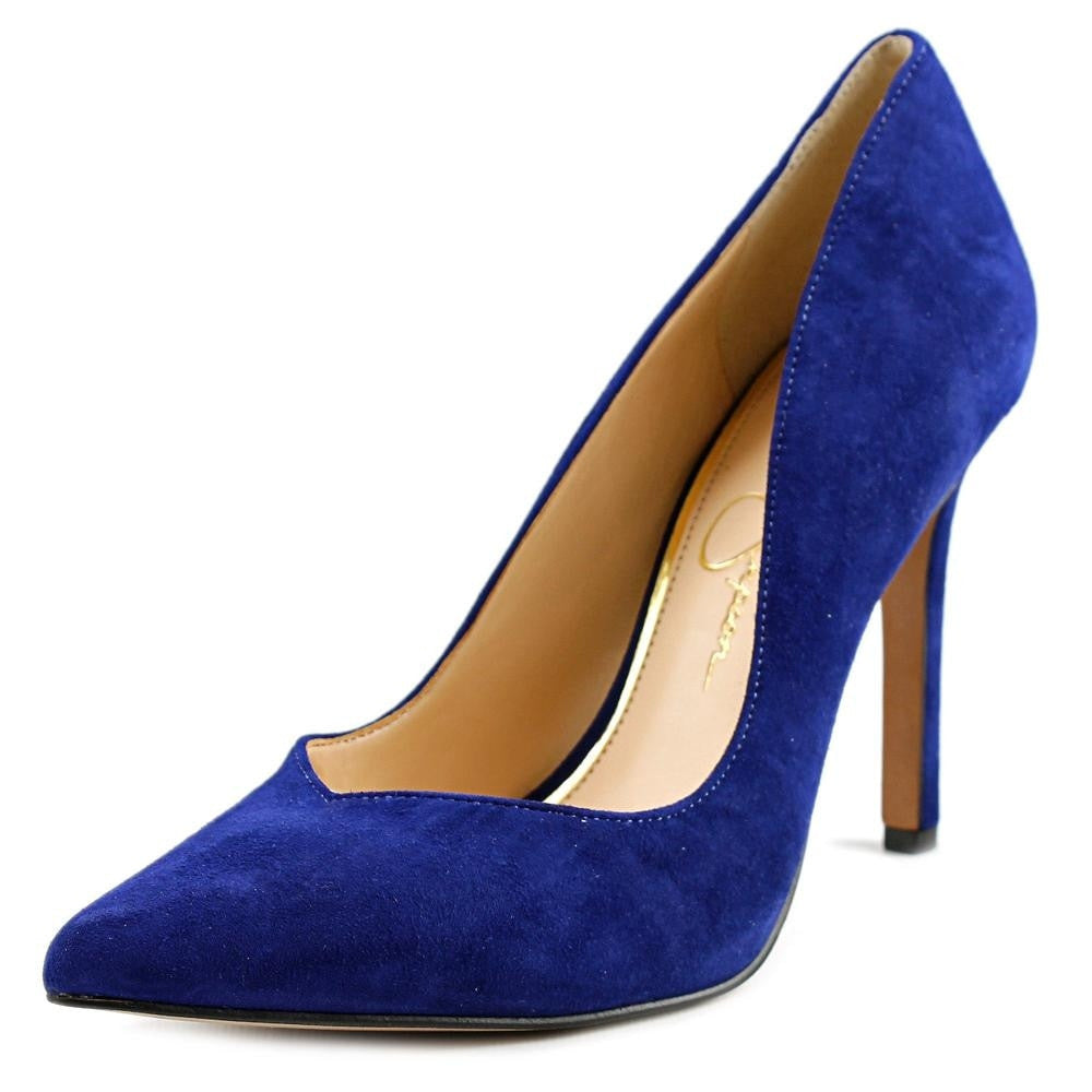 Jessica Simpson Pointed Toe Suede  Heels for $0.90 at THOKO PLACE