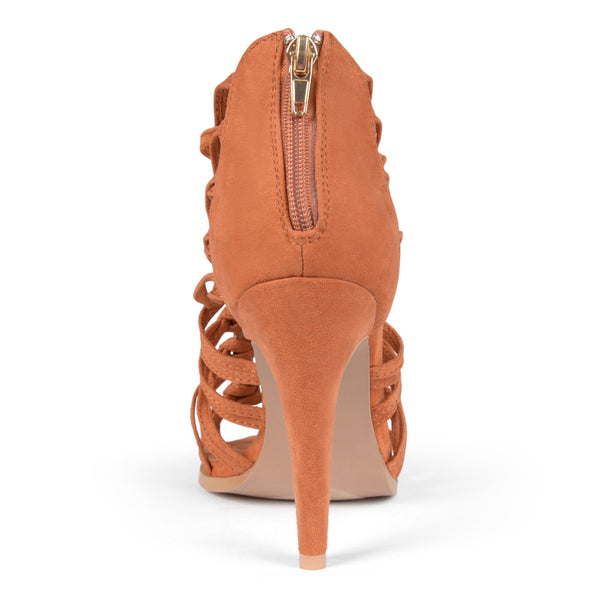 Journee Collection Women's 'Clove' Faux Suede Open Toe Pump for $0.40 at THOKO PLACE