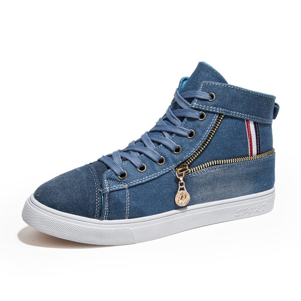 Fashion Men High Top Canvas Shoes for $0.45 at THOKO PLACE