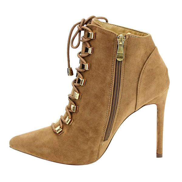 Liliana Pointy-Toe Lace-up Covered Stiletto for $0.77 at THOKO PLACE