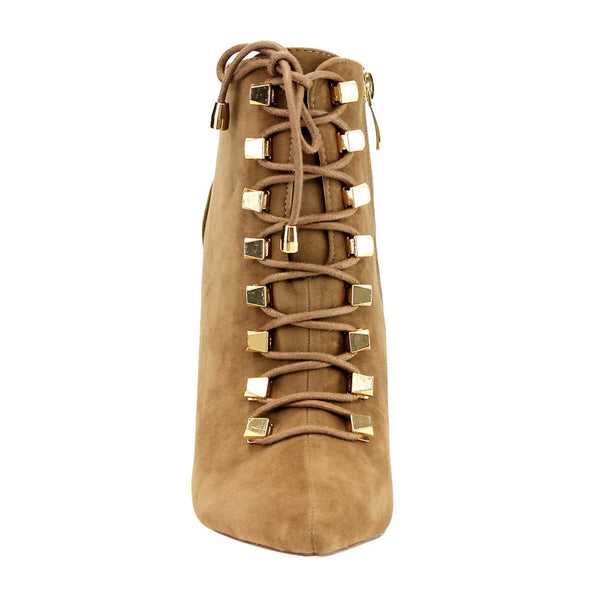 Liliana Pointy-Toe Lace-up Covered Stiletto for $0.76 at THOKO PLACE
